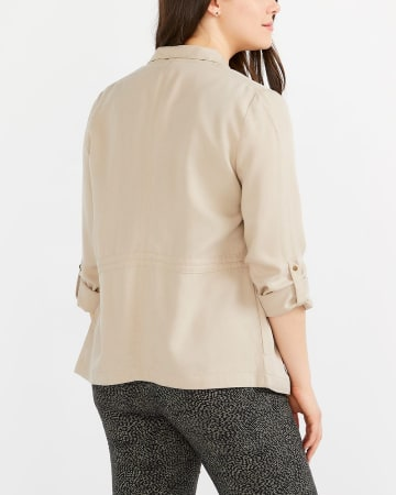 Adjustable Sleeve Open Blazer
