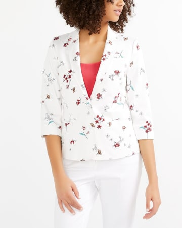 Sateen Blazer with ¾ Sleeves