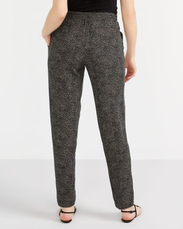 Tall Printed Skinny Pants with Elastic Waist
