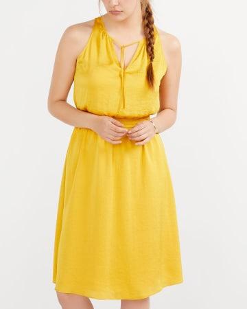 Satin Elastic Waist Dress
