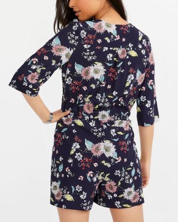 Printed Kimono Romper