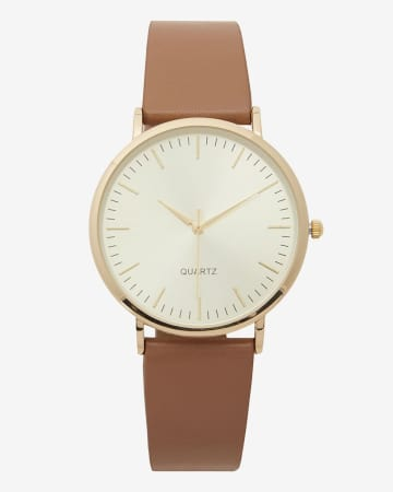 Montre-bracelet dorée classique