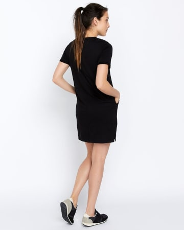 Hyba Solid Dress with Pockets
