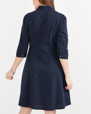 Robe chemise en popeline