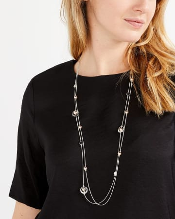 Mix Bead Station Necklace