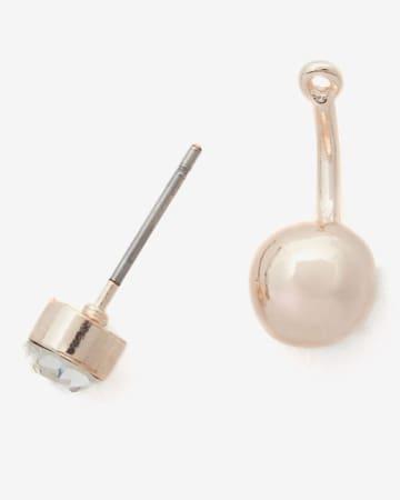 Boucles d'oreilles devant-derrière à perle