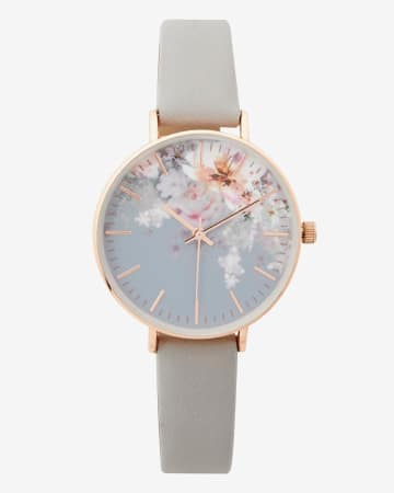Floral Grey Wristwatch