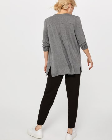 R Essentials ¾ Sleeve Open Cardigan