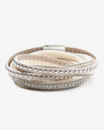 Bracelet enveloppant avec strass