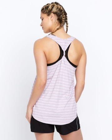 Hyba Twisted Back Printed Tank Top
