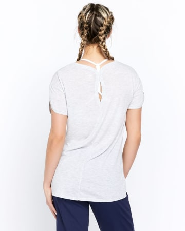 Hyba Graphic Tee with Keyhole