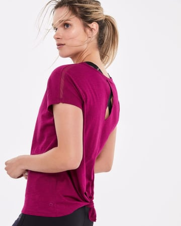 Hyba Back Tie and Keyhole Tee
