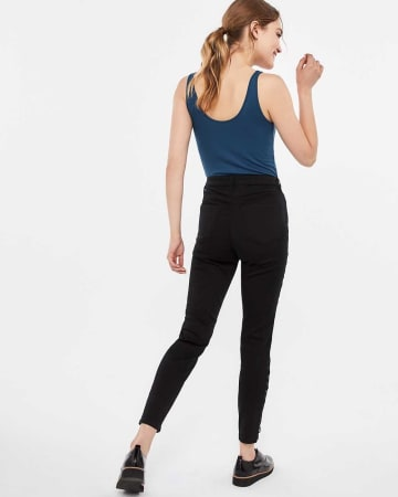 The Tall Insider Lace-Up Skinny Jeans