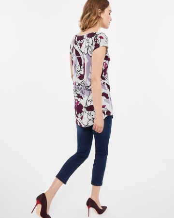 Printed Tunic Length T-Shirt