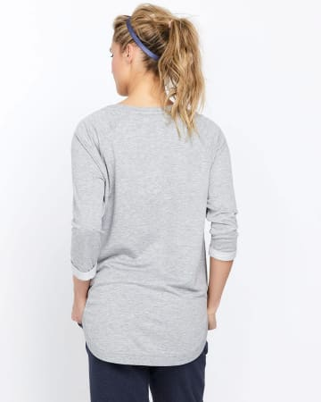 Hyba Sweatshirt with Scooped Hem
