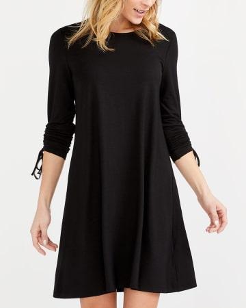 Adjustable Shirred Sleeve Dress