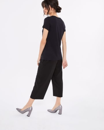 Willow & Thread Pima Cotton Solid T-Shirt
