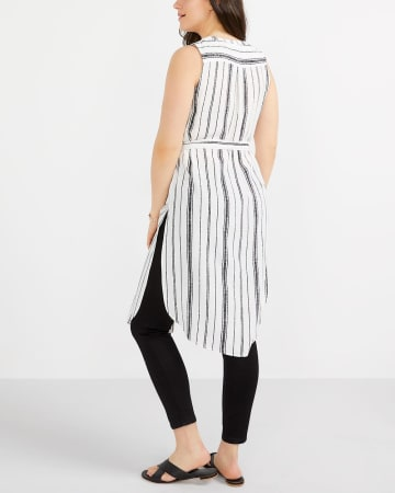 Striped Tunic with Sash