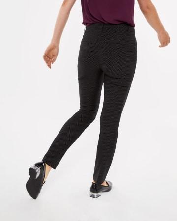 Pantalon à jambe droite à motif pois L'Iconique Long