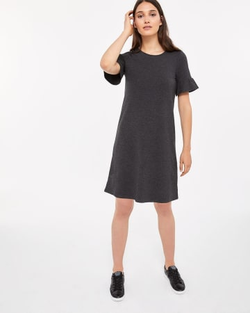 Ruffle Short Sleeve Swing Dress