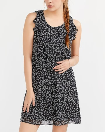Ruffle Elastic Waist Dress