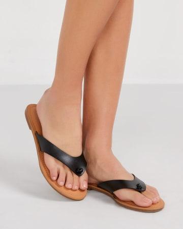 Sandale à courroies unies