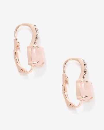 Rhinestone Clip Earrings
