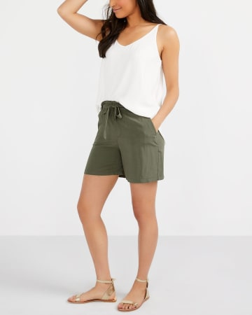 Sash Paper Bag Waist Shorts