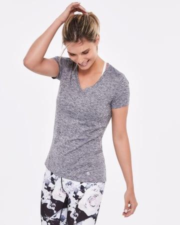 Hyba Space Dye Mesh T-Shirt
