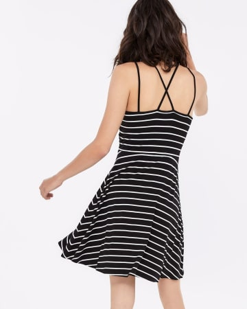 Spaghetti Strap Striped Dress