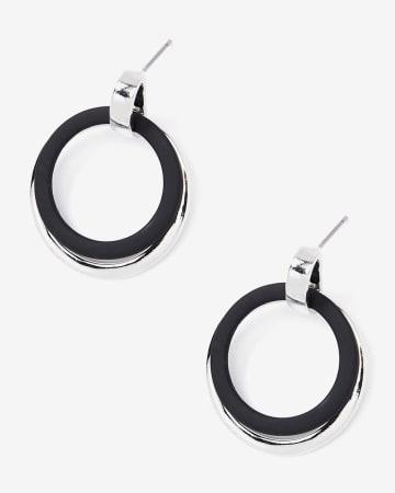 Boucles d'oreilles à 2 anneaux