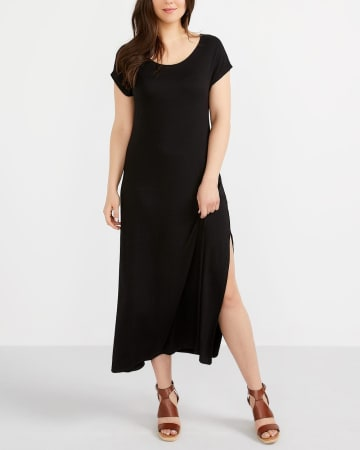 Petite Solid Maxi Dress