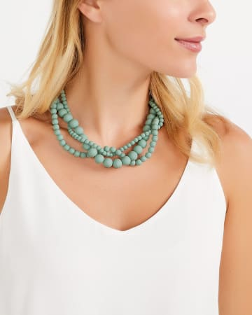 Silicone Bead Statement Necklace