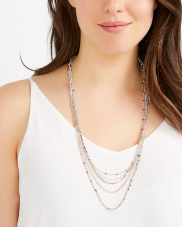 Mix Row Necklace