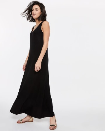 Maxi Dress With Reversible Neck