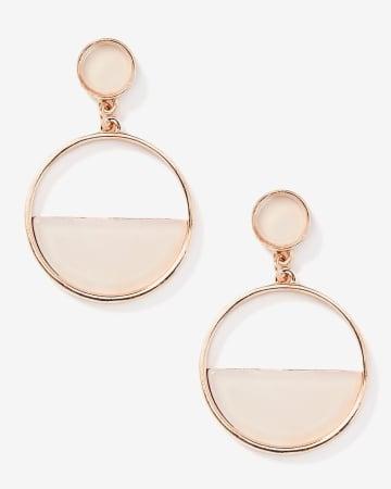 Pink Stone Drop Earrings