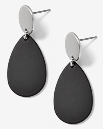 2-Tone Drop Earrings