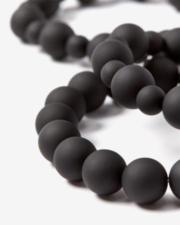 Set of 3 Silicone Bead Bracelets