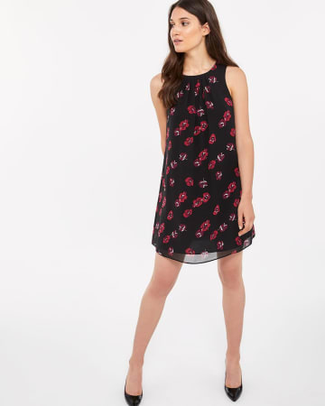 Sleeveless Printed Swing Dress