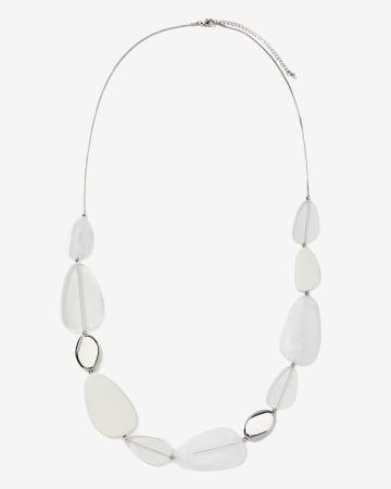 Multi White Stone Necklace