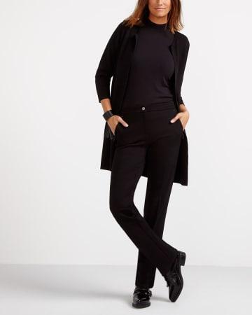 The Petite Modern Stretch Straight Leg Pants