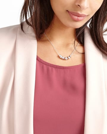 Long Rhinestone Necklace