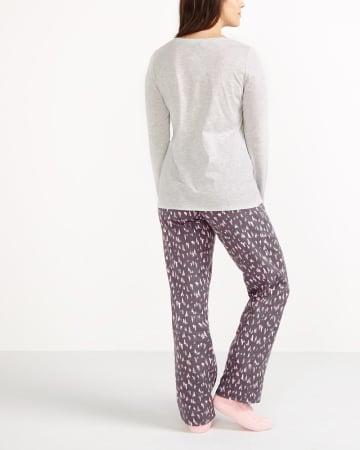 Ensemble pyjama à imprimé voyage