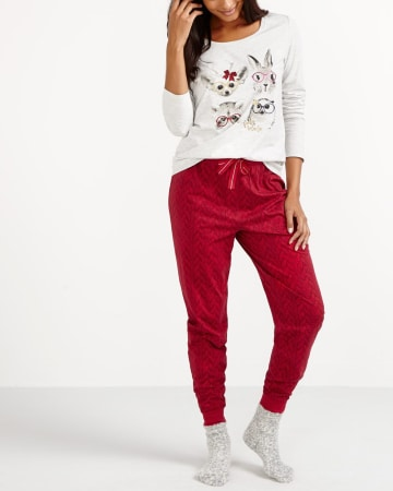 Animal Crew Printed Pyjama Set
