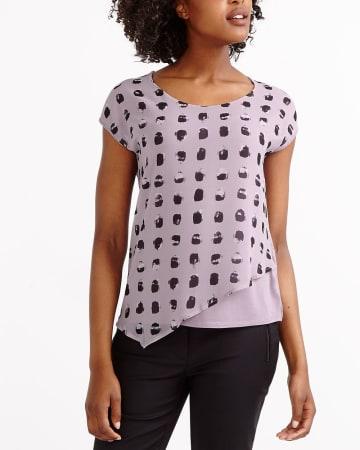 T-shirt bimatière asymétrique