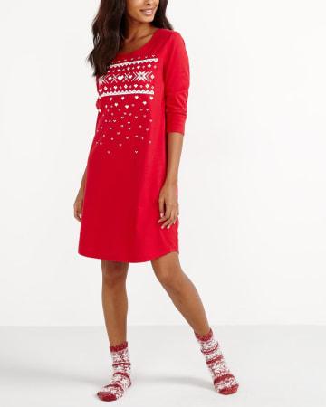 Fair Isle Pattern Nightgown