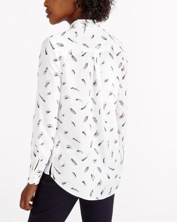 ¾ Adjustable Sleeve Printed Shirt