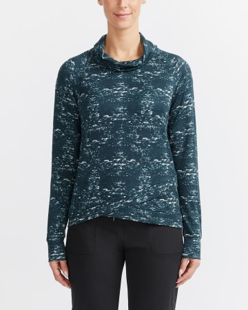 Hyba Printed Asymmetrical Sweater
