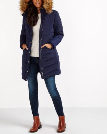 Manteau d'hiver en duvet à capuchon amovible