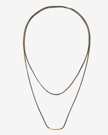 Long Double Chain Necklace